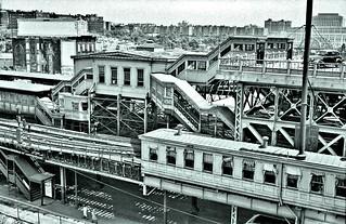 Ninth Avenue El, Manhattan, at 155th Street, June 3-5, 1940 -2