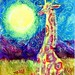 Hot Summer Night with Giraffe-Postcards for the Lunch Bag