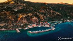 assos at sunset  / 070219005 (devadipmen) Tags: aegeansea aerialphoto assos ayvacık çanakkale dronephoto hdrphoto port sunset türkiye istanbul