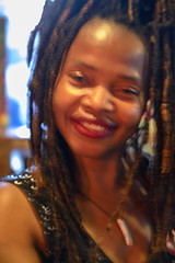 DSC_0891 Charming Susie from Sierra Leone West Africa with Dreadlocks Portrait The Haggerston Pub Kingsland Road London (photographer695) Tags: susie from sierra leone west africa with dreadlocks charming jamaican lady portrait the haggerston pub kingsland road london