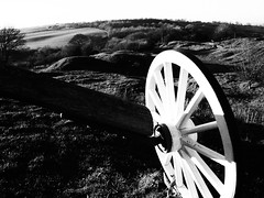 Tail Wheel (cycle.nut66) Tags: black white monochrome grayscale grainyfilmartfilter brill windmill barn wheel tail sky hill hills late afternoon evening low sunlight still air warm peaceful restored countryside england olympus epl1 evolt micro four thirds mzuiko
