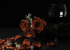 The language of love (Lee-Ann Leitch) Tags: wine stilllife flickrfriday lovepotion rose love