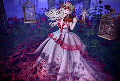 Rose Garden (Gabriella Marshdevil ~ Trying to catch up!) Tags: sl secondlife cute kawaii doll moonamore limerence valentine