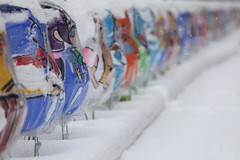 Snow row (Elios.k) Tags: horizontal outdoors nopeople lamps lights lantern paper float characters figures nebuta colourful paperfloat protected covered weather snow row perspective vanishingline depthoffield dof shallowfocus bokeh foregroundblur backgroundblur snowing snowfalling snowfall winter cold frozen freezing colour color travel travelling december 2017 vacation canon photography aomori aomorishi nebutawarasse museum warriorfigure figure light decoration nebutamatsuri festival tohoku honsu asia japan 5dmkii coveredinsnow streetphotography aomoriprefecture tohokuregion