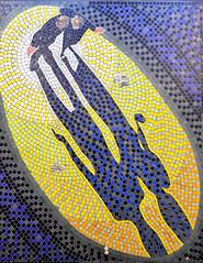 The Skin Game (R~P~M) Tags: train railway station mosaic mural alfredhitchcock film movie director centralline londonunderground leytonstone london england uk unitedkingdom greatbritain
