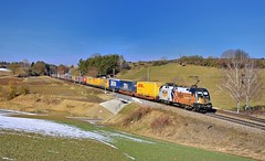 MRCE/TX Logistik 182 523 Fahlenbach (tobias.unsin) Tags: railway rail railroad train tx txl taurus zug güterzug germany bahn bavaria bayern locomotive lok logistik landschaft sunshine