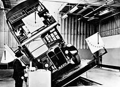 London transport RT3728 on tilt test Aldenham works 1955. (Ledlon89) Tags: bus buses london transport londonbus londonbuses rt rtbus aec regent parkroyal aldenhamworks tilttest test doubledecker lt lte vintagebuses oldlondon londontransport 1955 1950s nle835