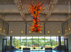 Chihuly Chandelier at Wichita Art Museum, 1 Sept 2018 (photography.by.ROEVER) Tags: kansas trip roadtrip september 2018 september2018 wichita sedgwickcounty art artmuseum wichitaartmuseum chandelier chihuly chihulychandelier color colour colors colours museum usa