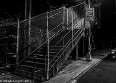 EM-190226-POST-002 (Minister Erik McGregor) Tags: erikmcgregor nyc newyork photography 9172258963 erikrivashotmailcom ©erikmcgregor usa photooftheday overpass pedestrianbridge stairs pedestriancrossing staircase transportation commute iloveny ilovenewyork ilovenyc brooklyn cityscape blackandwhite bwphotooftheday bw blackandwhitephotography streetphotography nightphotography iphonephotography shotoniphone shotoniphone7