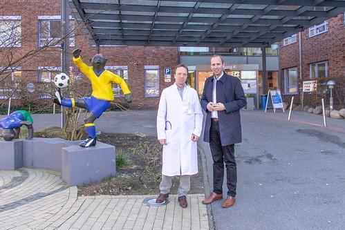 Beim Elisabeth-Kinderkrankenhaus in Kreyenbrück habe ich mich mit dem Direktor, Prof. Dr. Axel Heep, über die Gesundheitsversorgung gesprochen.