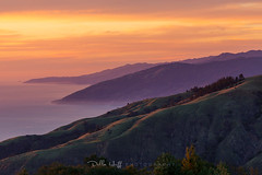 Violet, Green and Gold in Big Sur (Della Huff Photography) Tags: big sur bigsur california sunset summer spring mountains ocean californiacoast