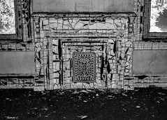 Abandoned South Carolina Mental Hospital- Private Room Fireplace (that_damn_duck) Tags: nikon blackwhite monochrome abandoned urbex urbanexplorer asylum mentalhospital bullstreetsouthcarolina bw blackandwhite decaying
