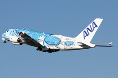 Airbus A380-841 - ANA - JA381A - s/n 262 - Flying Honu - Lani (French Frogs Pix ✈) Tags: avion aircraft plane airliner airplane aviation airbus a380 ana ja381a flying turtle staralliance décollage takeoff flyinghonu lani