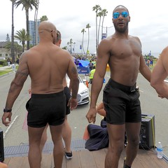 DSCN1820 (danimaniacs) Tags: longbeach gaypride parade shirtless man guy sexy hot tattoo shorts back