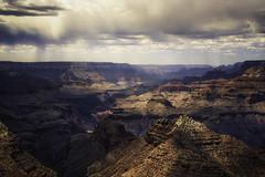 Rain-Clouds-Grand-Canyon (mcook1517) Tags: visualart 50mm sigmaart nikon color storm touring travel hiking cliffs coloradoriver grandcanyon arizona canyon clouds rain