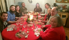 Around the table (knoopie) Tags: 2018 december iphone picturemail family posey daniel chris kayla brandon kira vinny jenny me mom