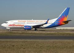 G-GDFM, Boeing 737-36N(WL), 28586 / 3090, Jet2Holidays, CDG/LFPG 2019-02-15, taxiway Bravo-Loop. (alaindurandpatrick) Tags: 285863090 ggdfm 737 733 737300 boeing boeing737 boeing737300 jetliners airliners ls exs channex jet2 jet2holidays airlines cdg lfpg parisroissycdg airports aviationphotography