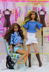 Blue Stars Barbie Fashionistas (Annette29aag) Tags: barbie doll fashion fashionista redress style rockstarglam photography skippersculpt blue