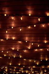 (Thunderwall) Tags: calgary zoo lights neon christmas festival low light glow glowing orange wood wooden plank roof