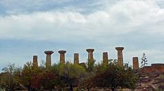 photo - Temple of Hercules (cropped) (Jassy-50) Tags: photo valleyofthetemples agrigento sicily italy templeofhercules templeofheracles viewforabus trees