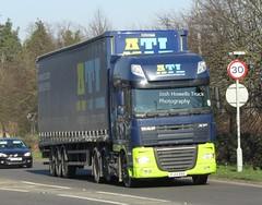 ATL Distribution FJ13 XRD at Welshpool (Joshhowells27) Tags: lorry truck daf xf atldistribution curtainsider fj13xrd
