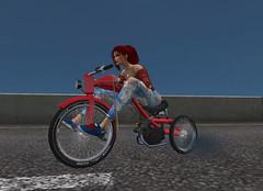 Tricycle (motobazzi) Tags: motobazzi moto mesh motorcycle bike tricycle secondlife virtual region sim avatar girl female biker cycle road asphalt kaiwa