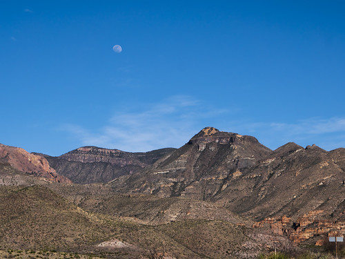 Moon over Rugged Big Bend