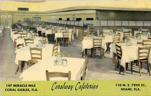 Coralway Cafeteria Vintage Postcard