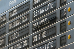 19-105 (George Hamlin) Tags: pennsylvania philadelphia amtrak 30th street station solari board train announcements cancelled delayed split flap motion changing message photo decor george hamlin photograpy