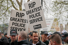 """120510 Police Protest 048 (hoffman) Tags: police protest march rally demo demonstration demonstrating demonstrater demonstrator demonstrate protesting street politics cuts economy marching creditcrunch cop constabulary lawandorder constable officer policeman officers policing employment job jobs davidhoffman wwwhoffmanphotoscom london uk gbr davidhoffmanphotolibrary socialissues reportage stockphotos""""stock photostock photography"""" stockphotographs""""documentarywwwhoffmanphotoscom copyright"""
