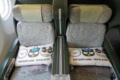 EVA Air Business Class Seats (Luke Lai) Tags: br evaair evaairways 長榮航空 hellokitty hellokittyjet badbadtzmaru cabin businessclass airbusa330 airbusa330300 b16331