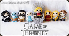 Game of Thrones Amigurumis (LaCalabazadeJack) Tags: game thrones juego de tronos song ice fire george r martin fan art book tv show hbo chibi cute kawaii geek amigurumi crochet ganchillo pattern patrón felt yarn plush toy doll handmade handcraft craft tutorial la calabaza jacrk cristell justicia artesanía tienda online venta shop comprar