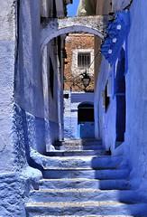 Marokko (eyedent) Tags: blau treppe gebäude marokko