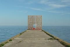 The gate of Atlantis (Eziah photography) Tags: lithuania nature outside water pond sea blue light nida island gate wood