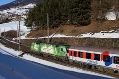 ÖBB 1016 023-4 Green Point, RoLa Mühlbachl (TaurusES64U4) Tags: öbb taurus 1016
