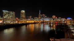 Music City USA (TnOlyShooter) Tags: nashville tennessee skyline cumberlandriver night musiccity reflections em1markii 918mm mirrorless olympus