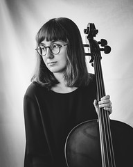 SadNiece(1)_Cello_2 (SadFo_x1) Tags: music new people light portrait art blackandwhite bw black white musician girl classic violoncello cello