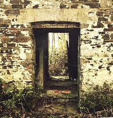 The Old Milking Shed (Joanne Nicki Rossi) Tags: iphone stone building farm cow history milking mysterious doorway barn old