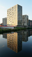The Slate Yard (Alec Paton) Tags: manchester salford river irwell building reflection