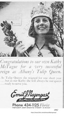 1962  Emil Nagengast Florist ad - ontario and Benson with  kathy mctague Tulip Queen (albany group archive) Tags: 1960s old albany ny vintage photos picture photo photograph history historic historical
