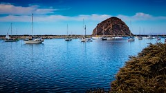 Morro Bay Habor  No.3 (CDay DaytimeStudios w /1 Million views) Tags: beach boats ca california cloudyday cloudysky coastline harbor highway1 morrobay ocean pacificcoast pacificcoasthighway sailboats sky water yachts