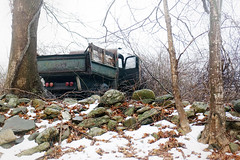 It hasn't changed in decades (*CA*) Tags: ct truck abandoned winter snow