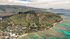 Oahu's Diamond Head (Corey Rothwell) Tags: hawaii mountain ocean sea landscape