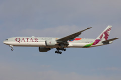 Qatar Airways B777-300ER A7-BAX landing PEK/ZBAA (Jaws300) Tags: 2022 fifa world cup 2022fifaworldcup fifaworldcup worldcup special cs colors colours paintjob paintscheme qr qtr qatar qatari doha beijing china pek zbaa boeing b777 b773 b777300 b777300er a7bax qatarairways landing approaching approach final
