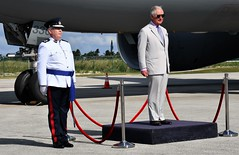 HRH & RCIPS Police Commissioner during the RCIPS Royal Salute (Cayman Islands Government Information Services) Tags: cayman royal visit charles prince wales camilla duchess cornwall owen roberts international airport united kingdom great britain