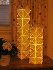Diamond Lamp - Crowned (2) (pia miller) Tags: sonobe antiprism origami paperart lampshade