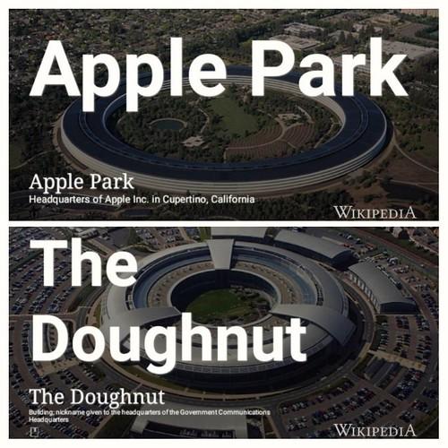 Apple doughnut: @Apple vs. @GCHQ