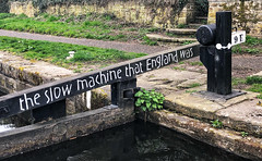 The Slow Machine That England Was (Mr_Pudd) Tags: huddersfieldnarrowcanal huddersfield milnsbridge lock lockgate 9e lock9east