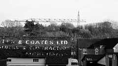 Contractors and Crane. March 2019 (Simon W. Photography) Tags: ashbourne derbyshire crane town historicmarkettown blackandwhite blackwhite monochrome monotone greyscale grayscale bw bnw sonyrx10iv sonyrx10m4 rx10m4 sony sonyflickraward