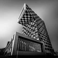 Ultimate Chess (s.W.s.) Tags: rotterdam netherlands holland city urban architecture architectural abstract building nmu university checked blackandwhite geometry windows nikon lightroom